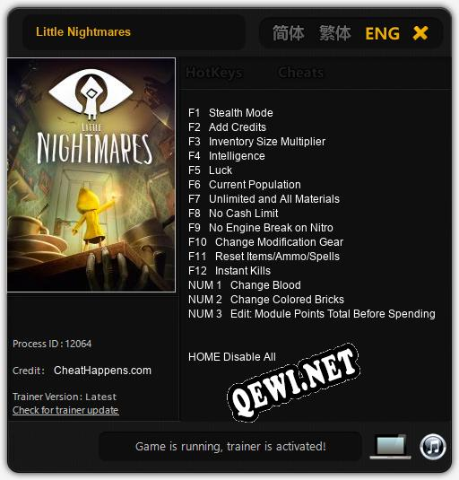 Трейнер для Little Nightmares [v1.0.3]